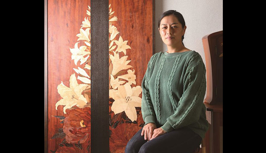 日本木象嵌藝術家 - 蓮尾知子